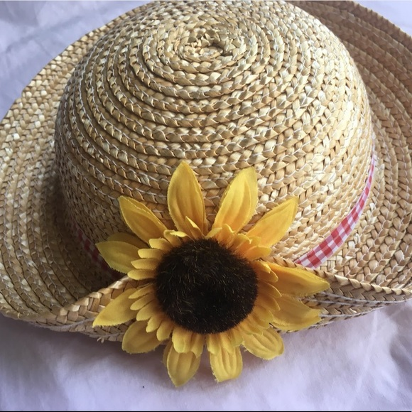 GAP Other - Girls Sunflower Flower Wide-Brimmed Straw Hats 44ca5c44ae9e